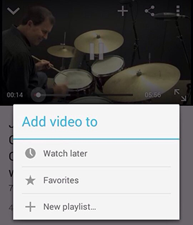 Create YouTube playlist on Adroid