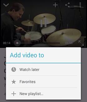 Crear lista de reproducción de YouTube en Android