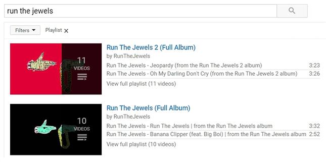 特定の音楽別に検索