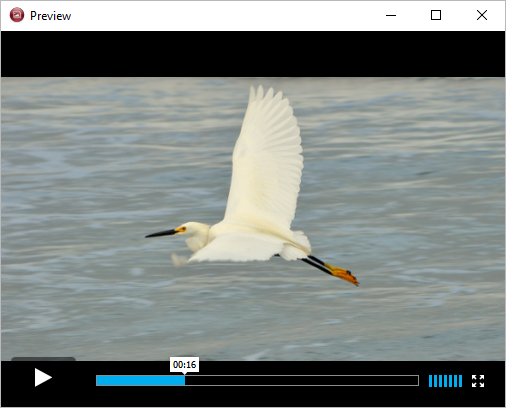 Watch slideshow preview in 4k Slideshow maker