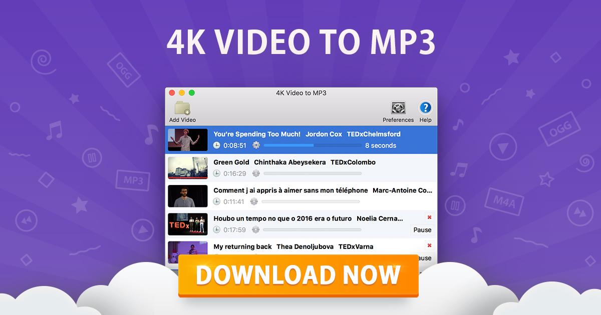 4K Video to MP3 | Conversor de vídeo para mp3 gratuito | 4K
